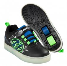 Heelys X2 POW Lighted Black-Blue-Green